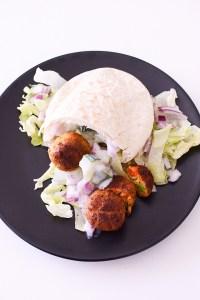 Gezonde pitta met groentenballetjes