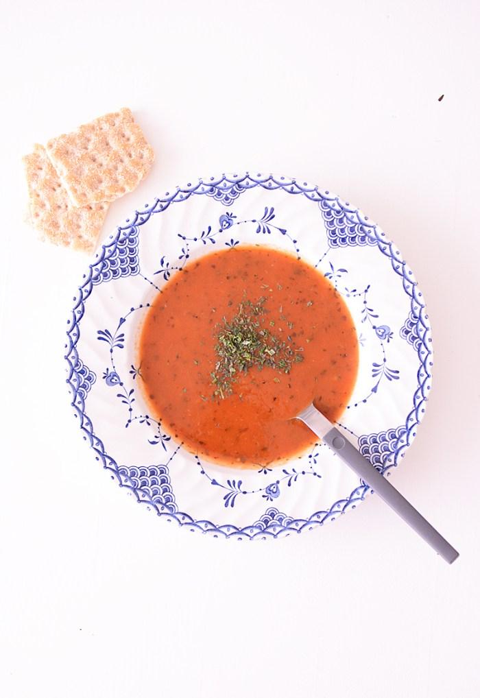 Snelle maar smaakvolle tomatensoep
