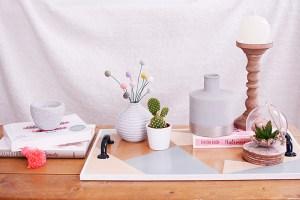 Zo styleden we onze salontafel en dienblad