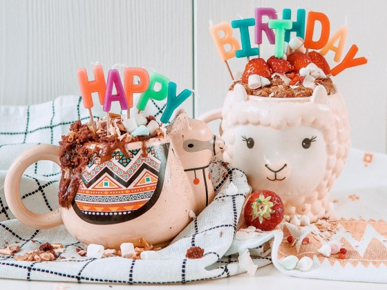 Treat yourself: birthday mug cakes