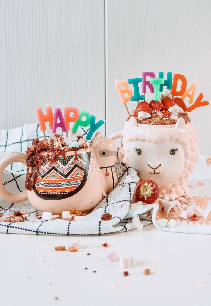 Treat yourself: birthday mug cakes