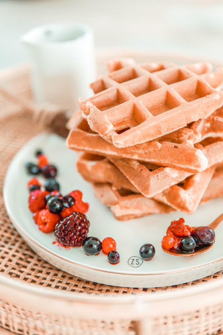 Recept: gezonde, voedzame wafels met Griekse yoghurt