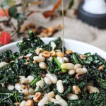 Cavolo Nero with Garlic, Hazelnuts and Beans