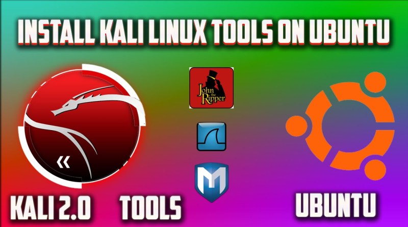 How to install kali linux tools