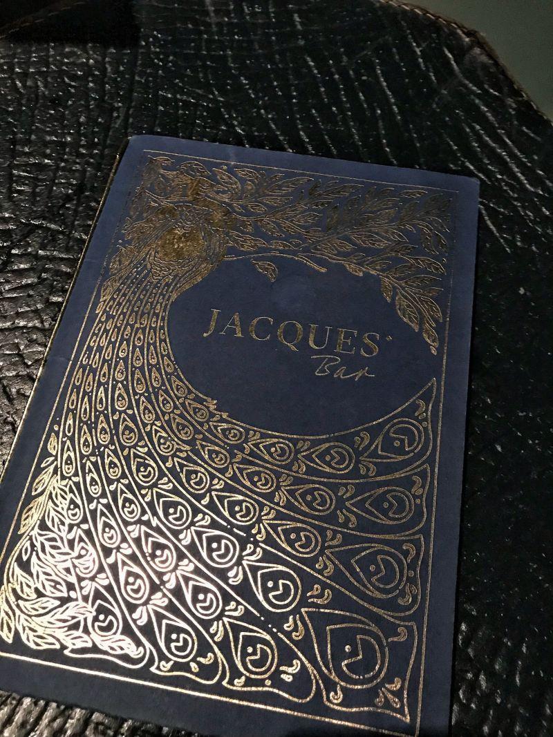 Hoxton Hotel Paris Jacques Bar Drinks Menu