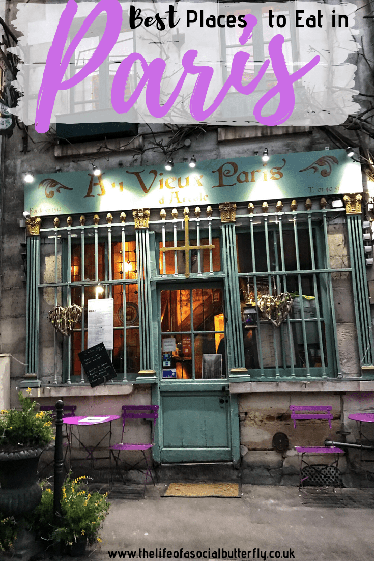 Wondering where to eat in Paris? This Paris food blog will make you a Paris foodie! A guide to Paris restaurants with views of The Eiffel Tower & hidden gems where locals eat in Paris too! #Parisfoodrestaurants #bestcafesinParis #ParisFoodGuide #ParisRestaurants
