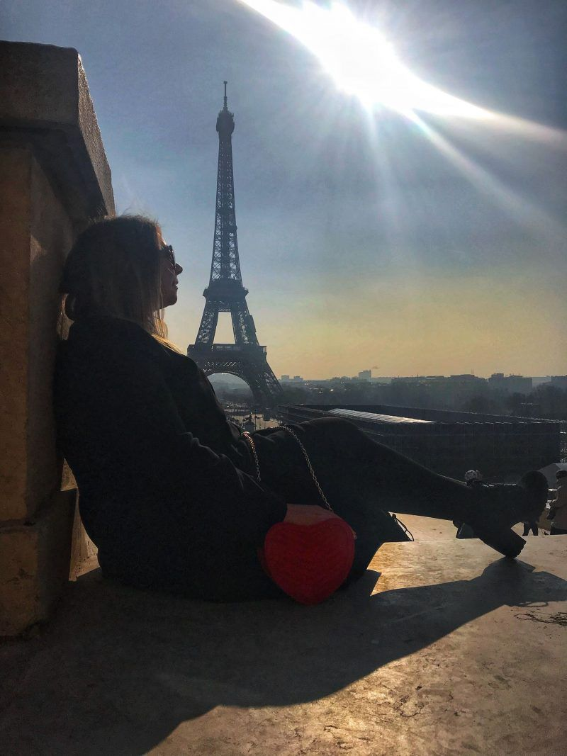 my first trip to Paris Soaking up the sunset views of the Eiffel Tower