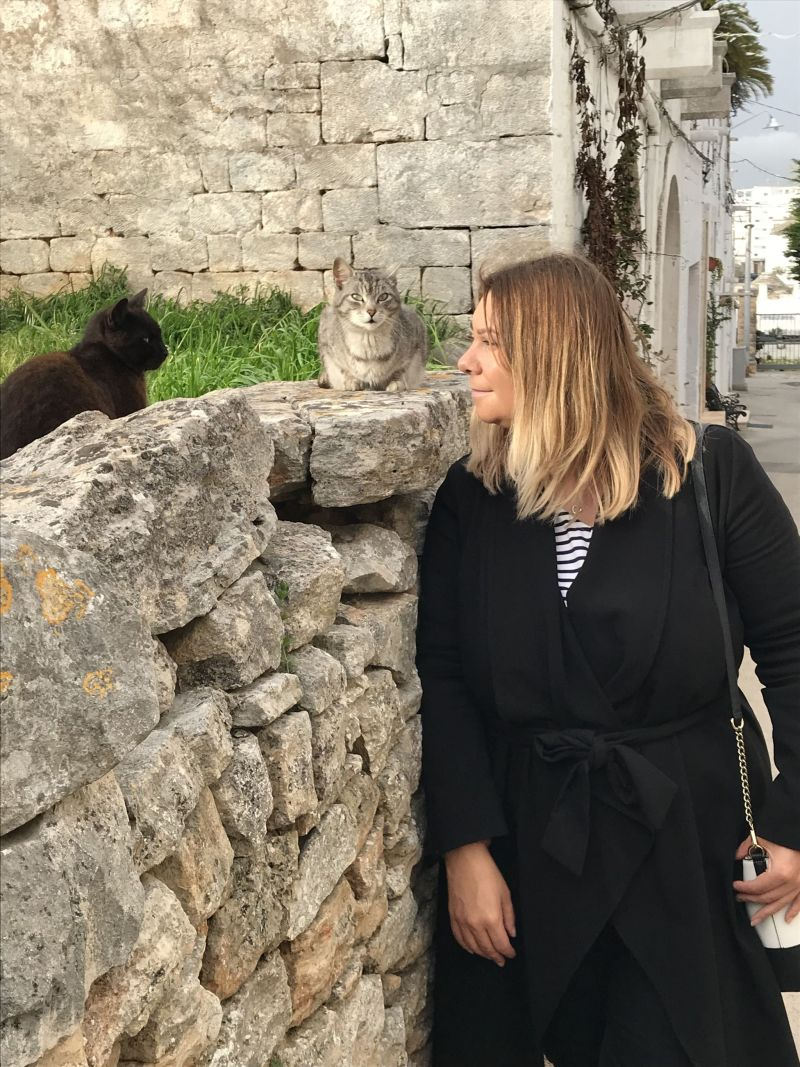 Feline friends in Alberobello