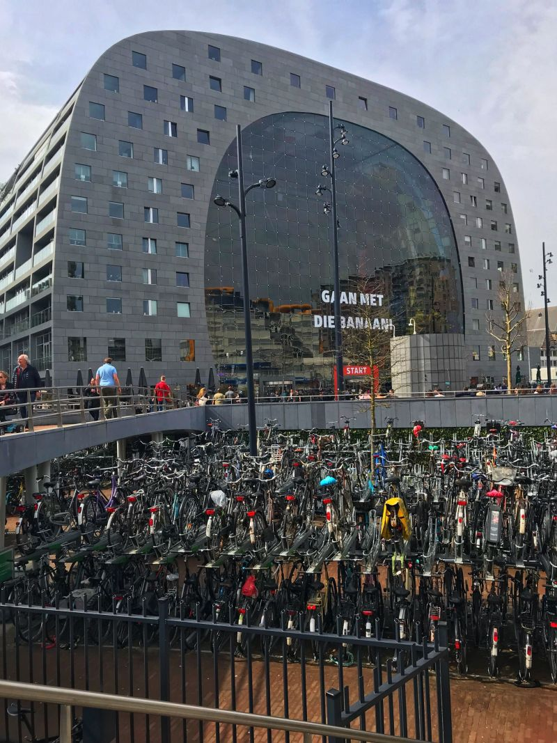 Bike stack at Rotterdam Marathon