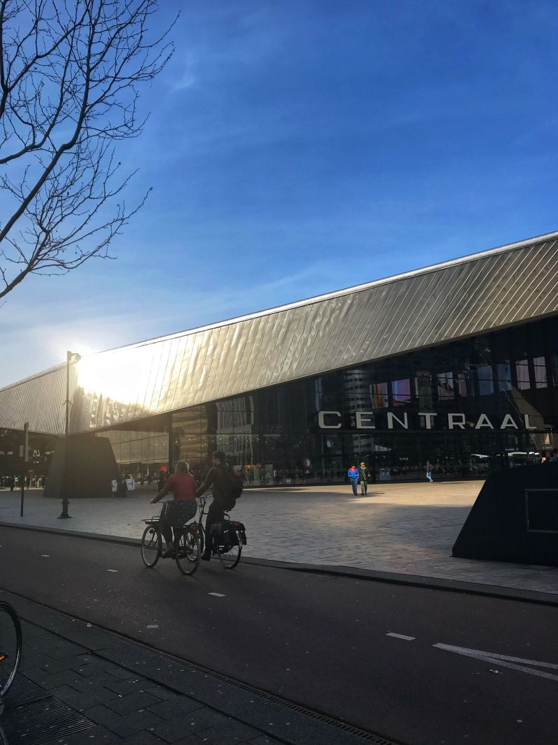 Dutch traditions meet modern centraal station Rotterdam