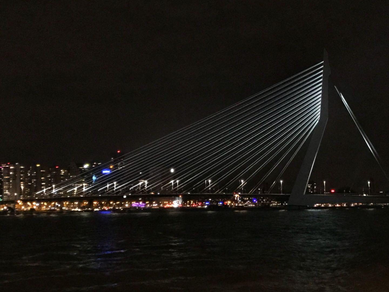 Horizontal view of Erasmus Bridge Rotterdam