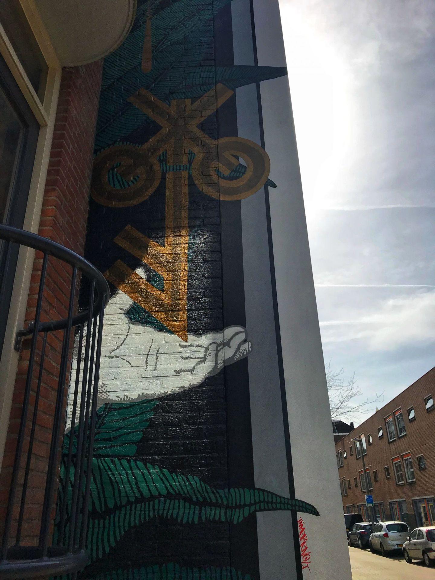 Key street art in Rotterdam