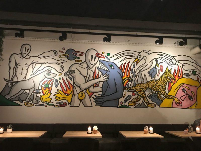 Murals at Emma Restaurant Eindhoven