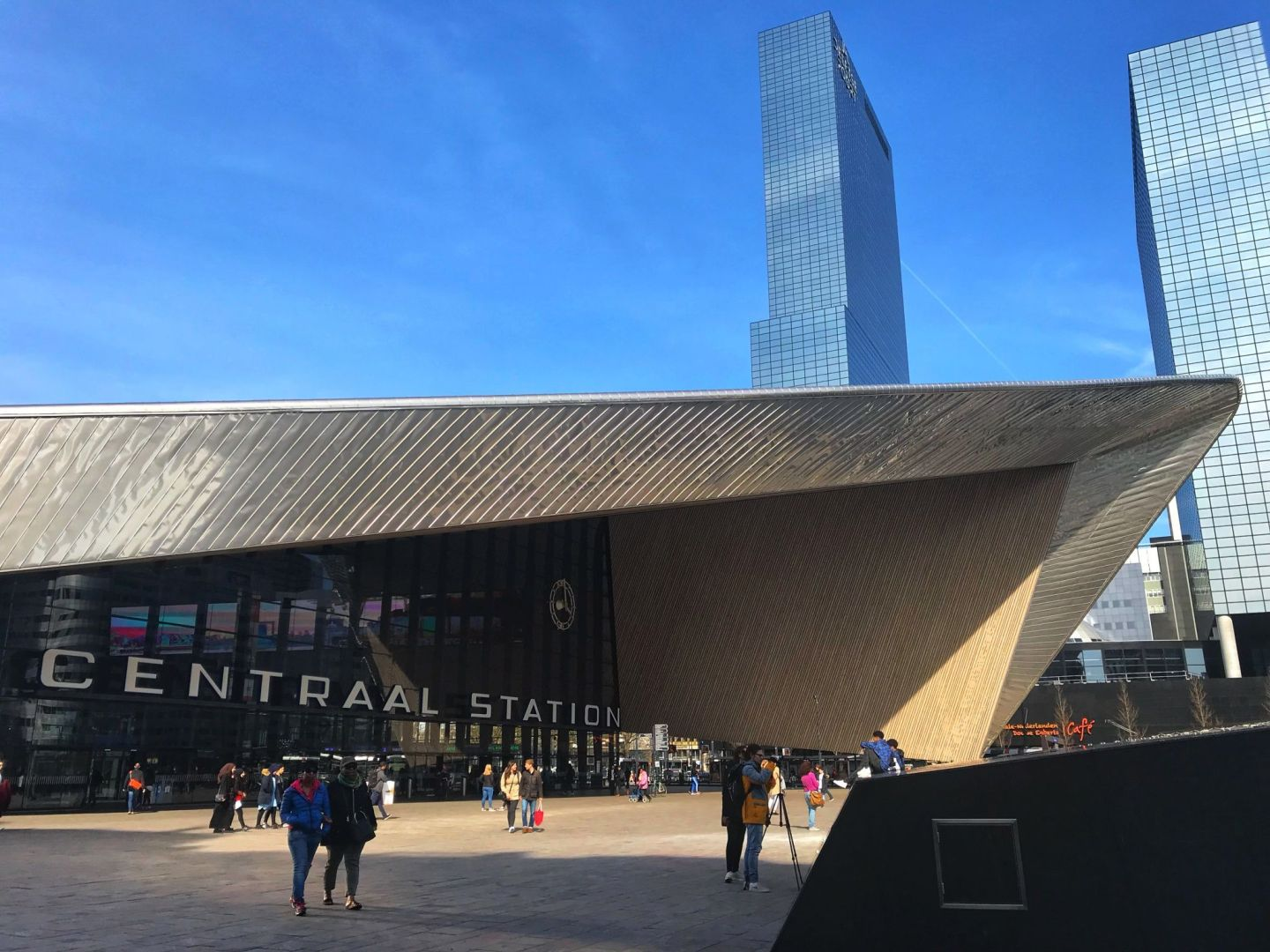 New modern Centraal Train Station Rotterdam One Day Trip