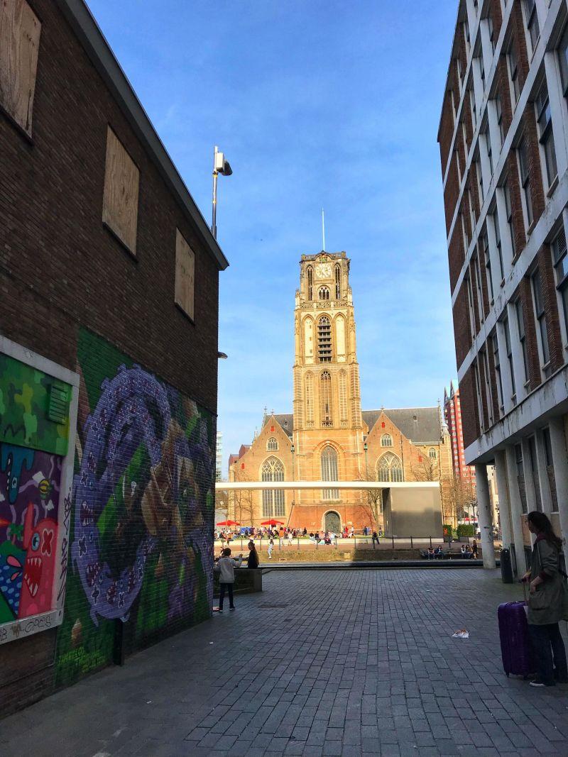 St Laurenskerk Church in Contemporary Rotterdam