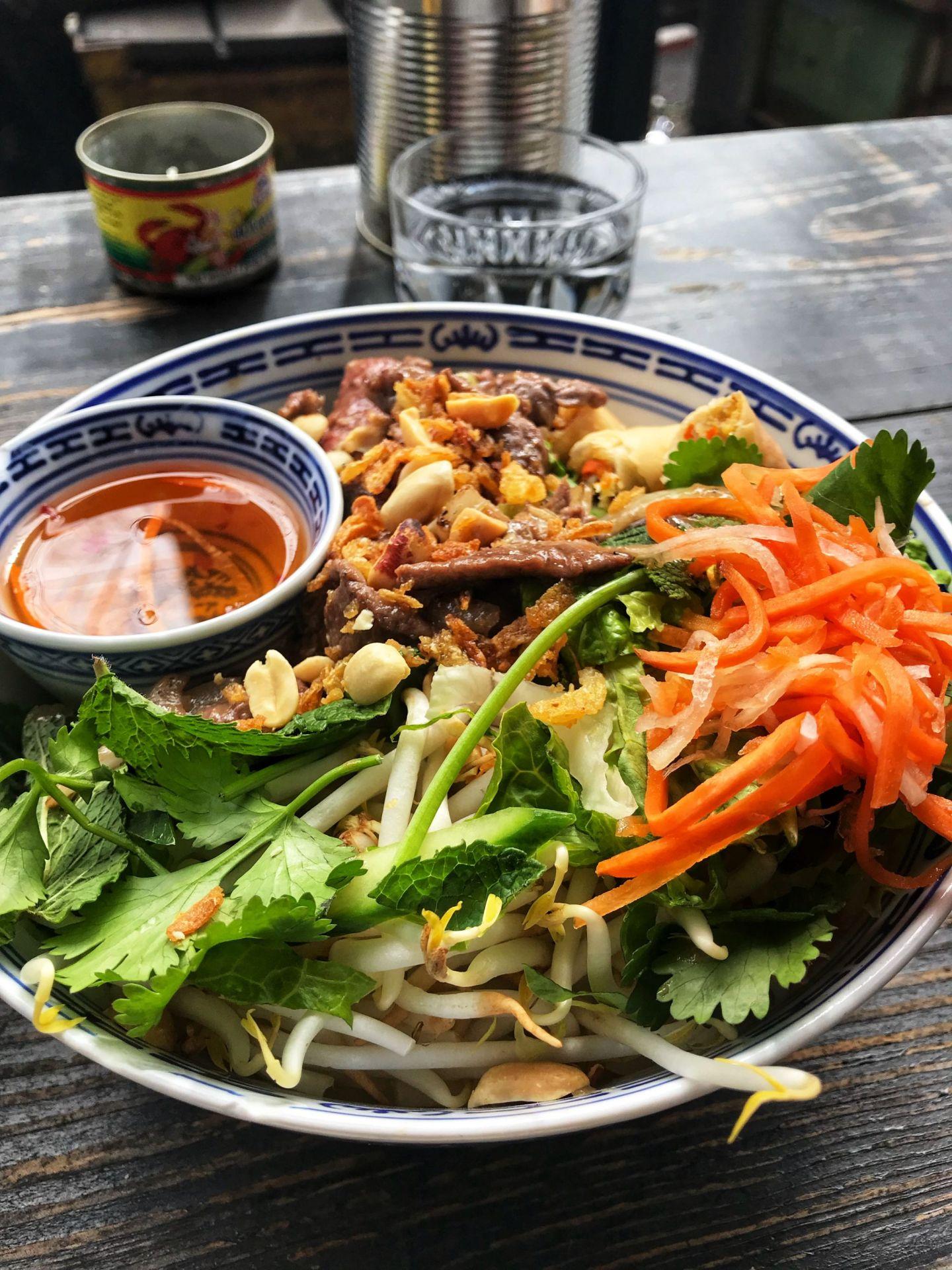 Vietnamese food at Little V Rotterdam