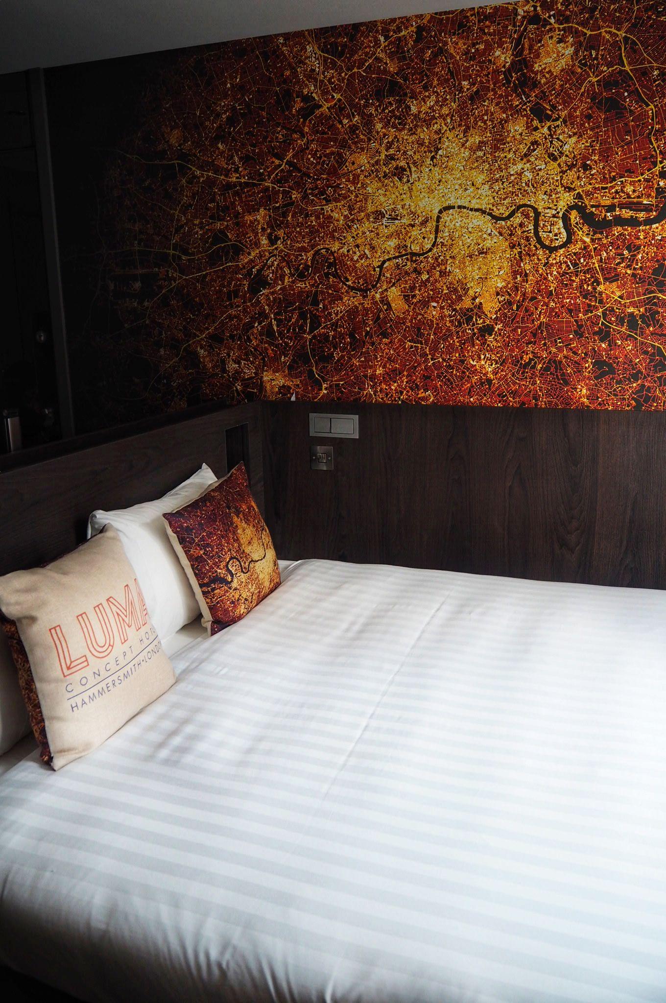 Hotel room at the Luma Concept Hotel Hammersmith