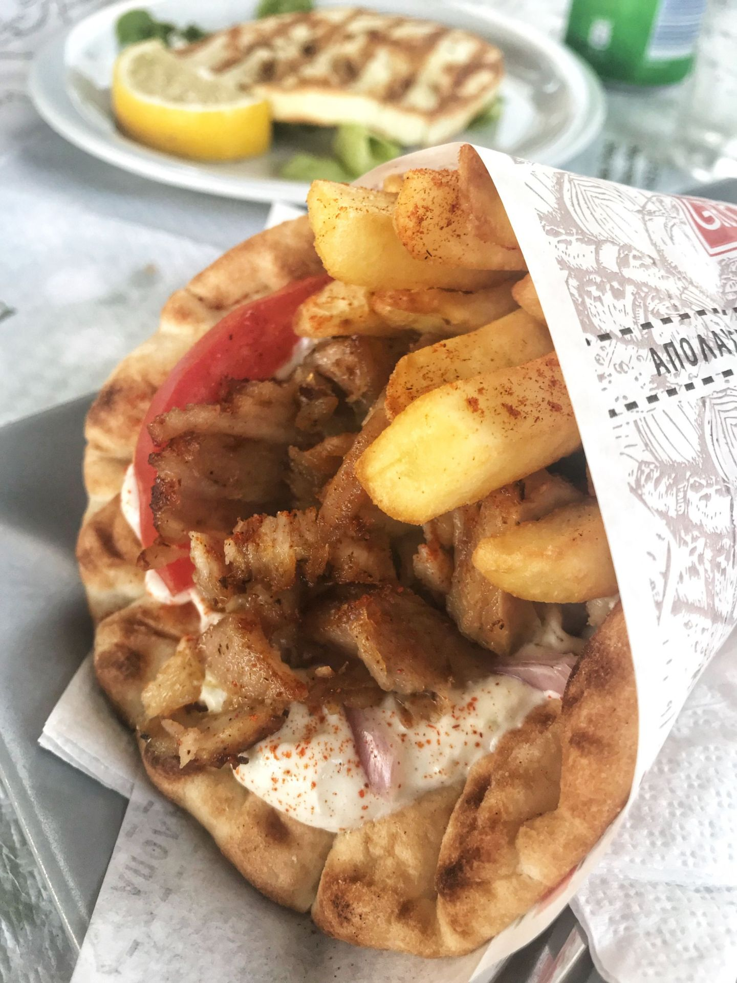 Greek gyros in Zante
