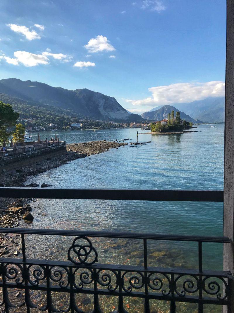 Beautiful scenic Lake Maggiore views from Palazzo Borromee