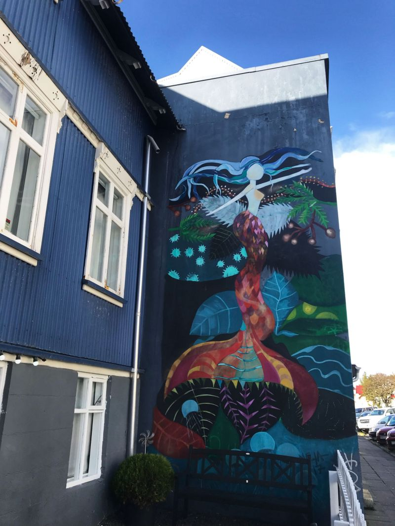 Mermaid Street Art Reykjavik Iceland