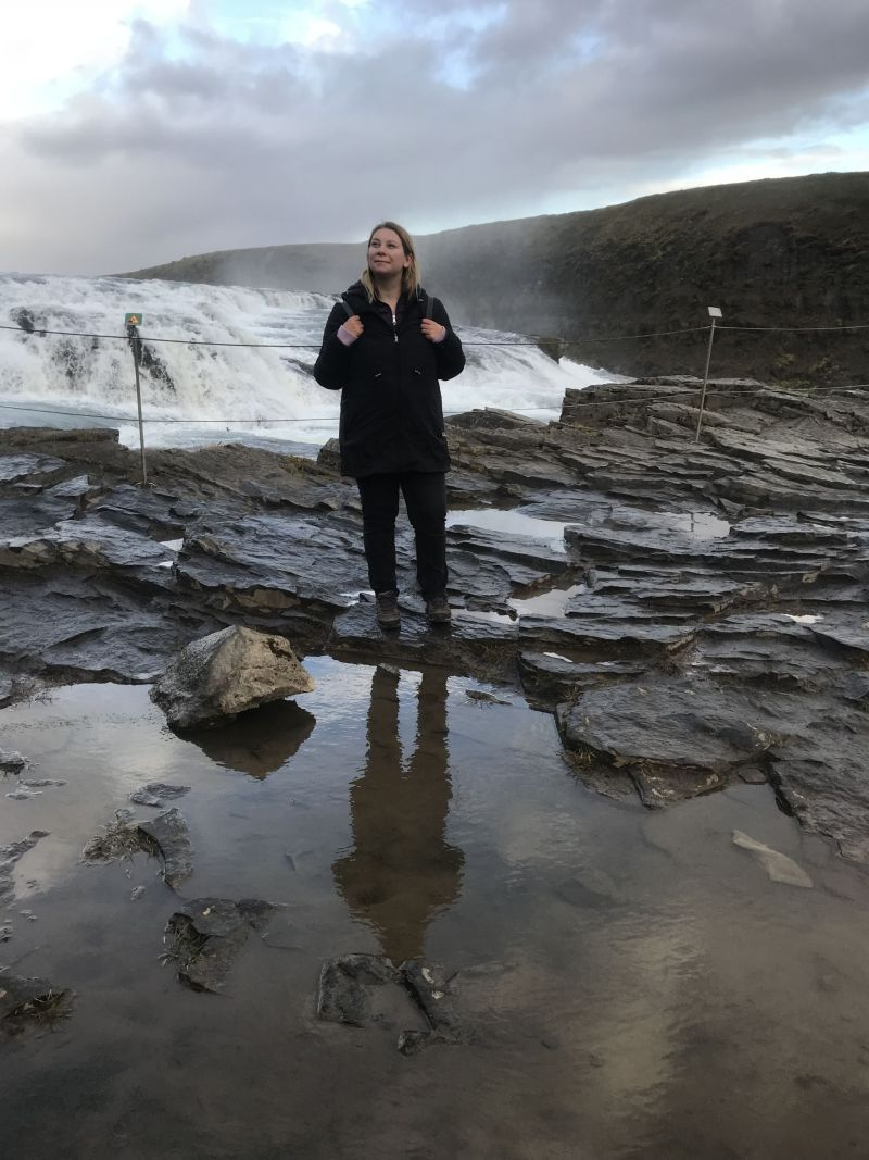 Soaking up the scenery in Southern Iceland's Gullfoss Falls