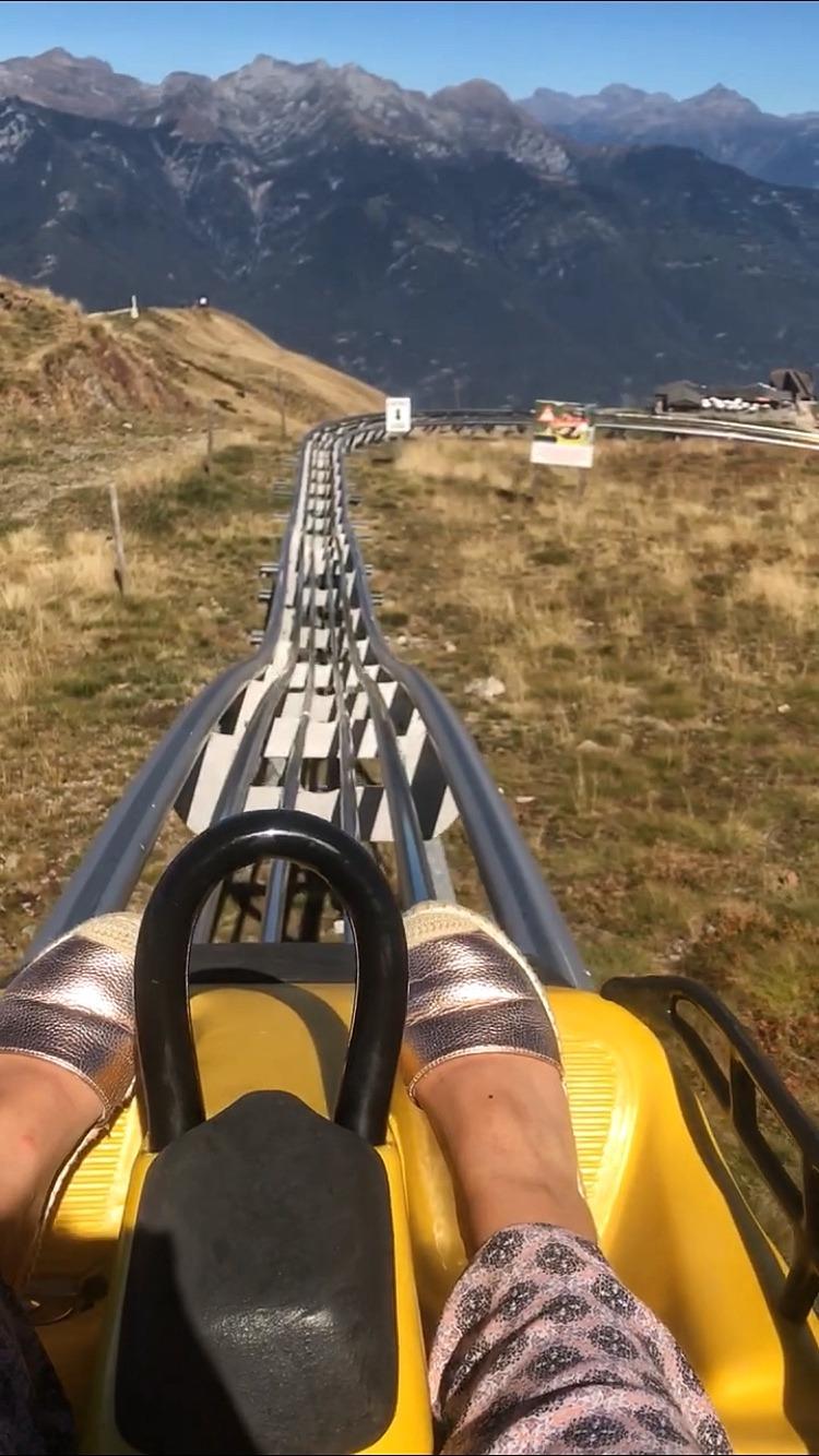 Riding Coaster Bob Monte Tamaro rollercoaster