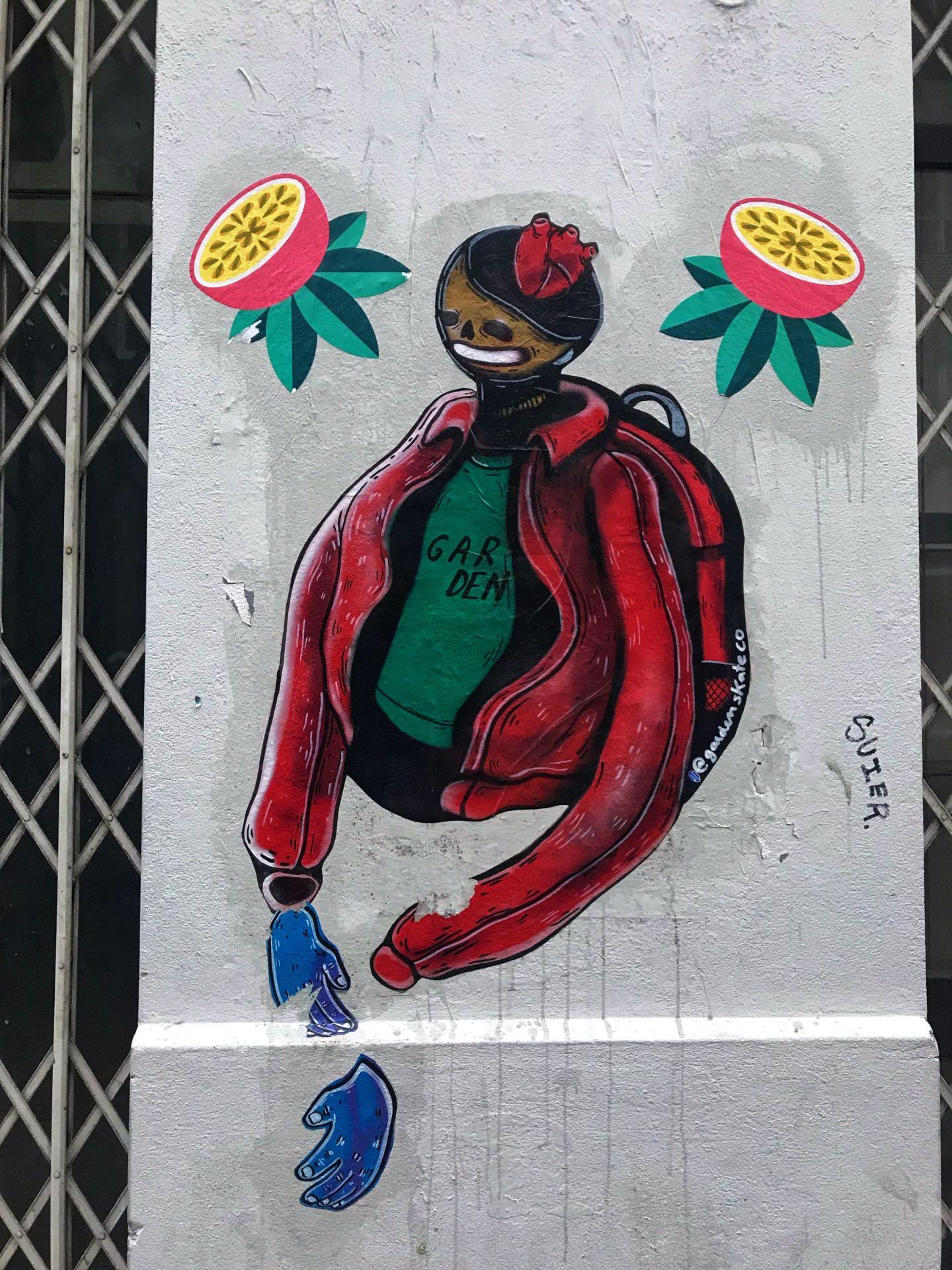 Colourful street art in Porto