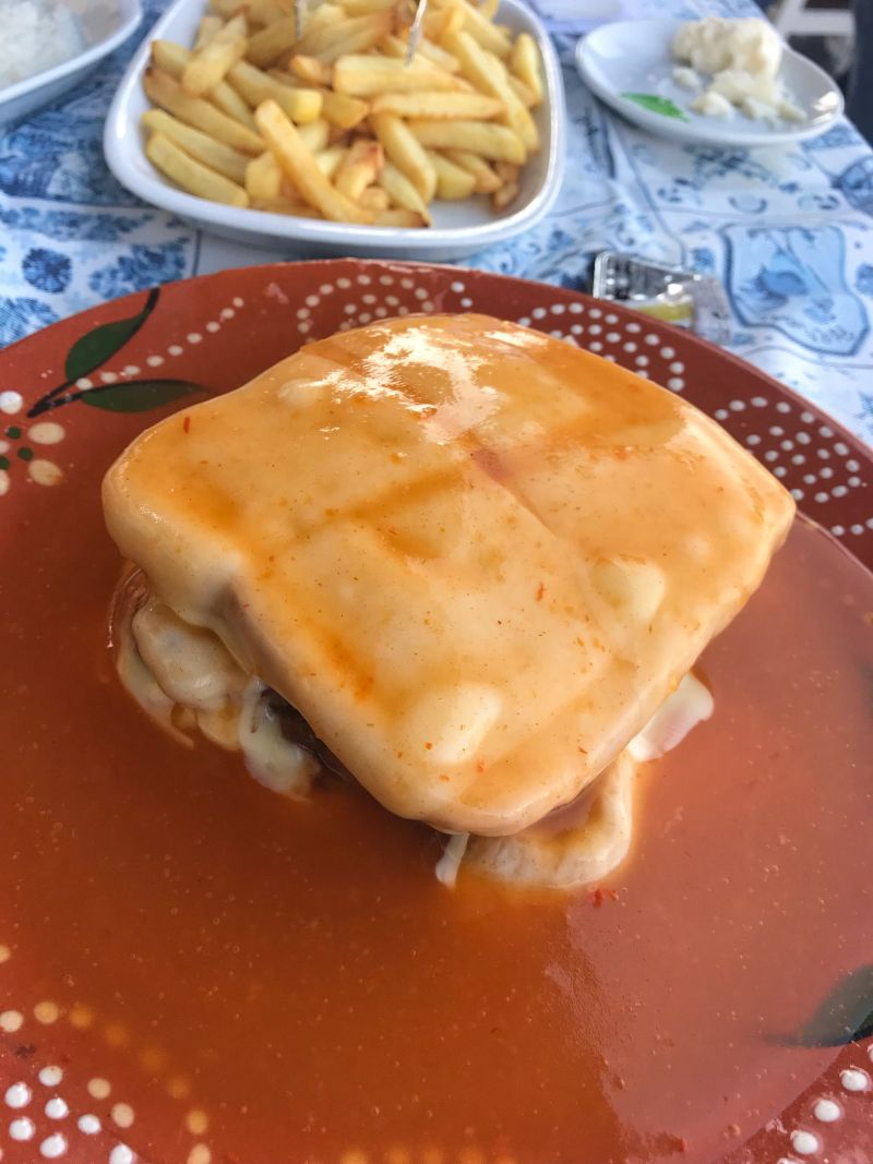 Traditional Porto Food delicacy Francesinha