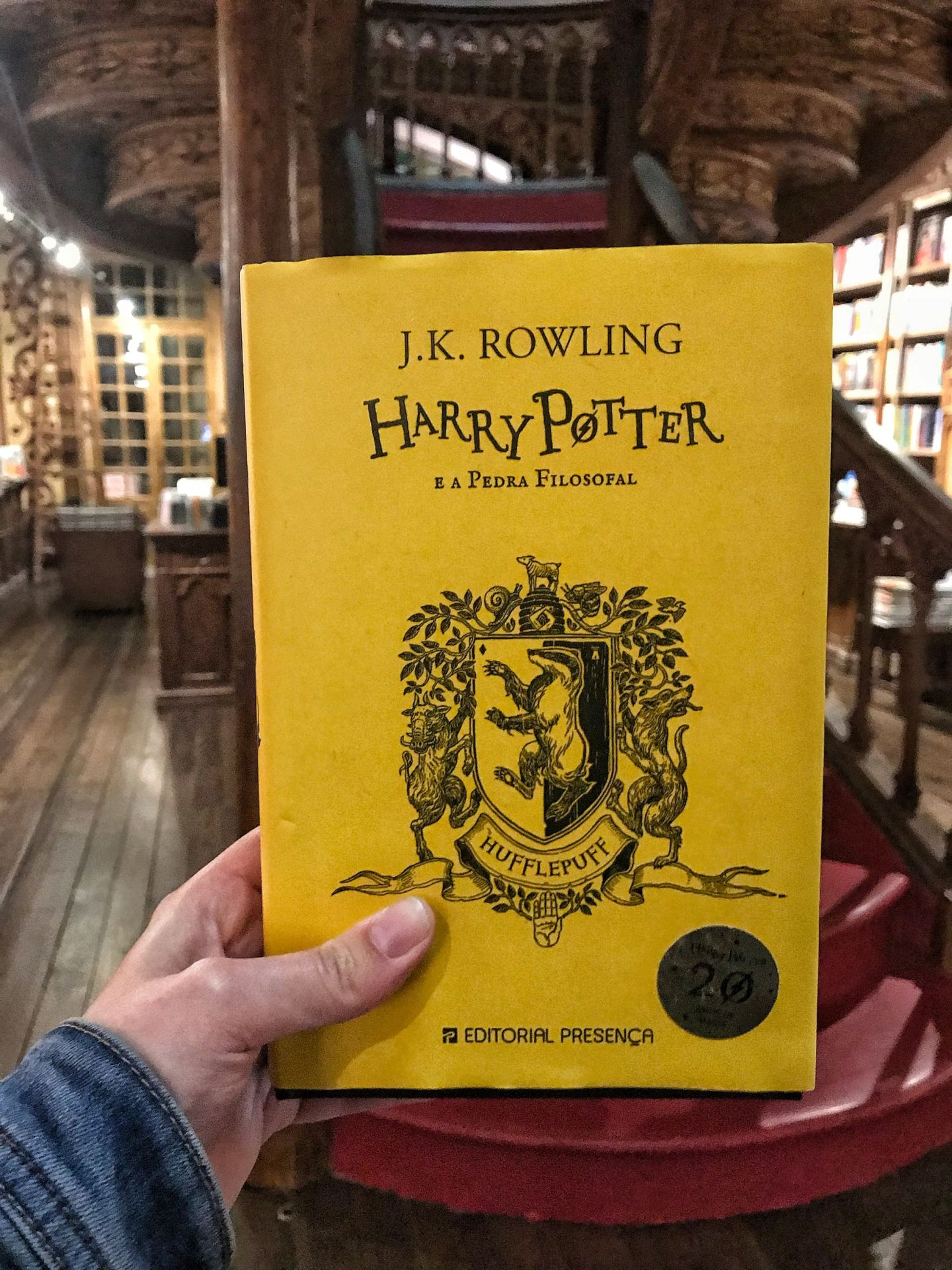 Harry Potter at Livraria Lello Book store Porto