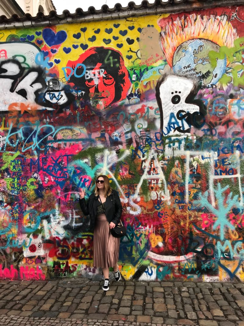 Peace and love at the John Lennon Wall Prague