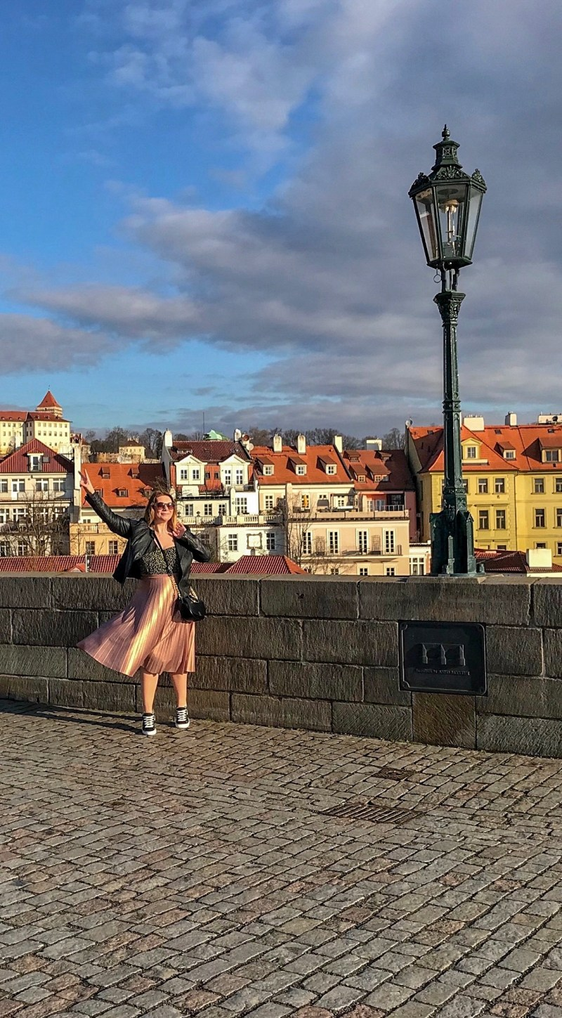 Twirling like a princess in fairytale Prague
