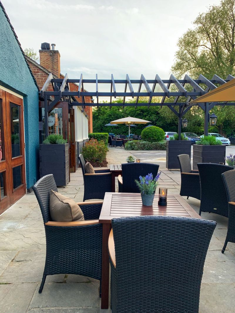Gorgeous Terrace Outside seating area at The Wavendon Arms Milton Keynes