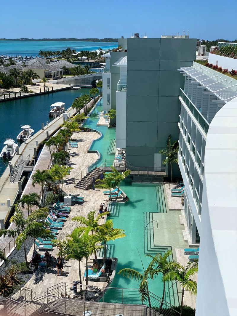 Aerial-views-of-Lazy-River-Hilton-World-Resort-Bimini