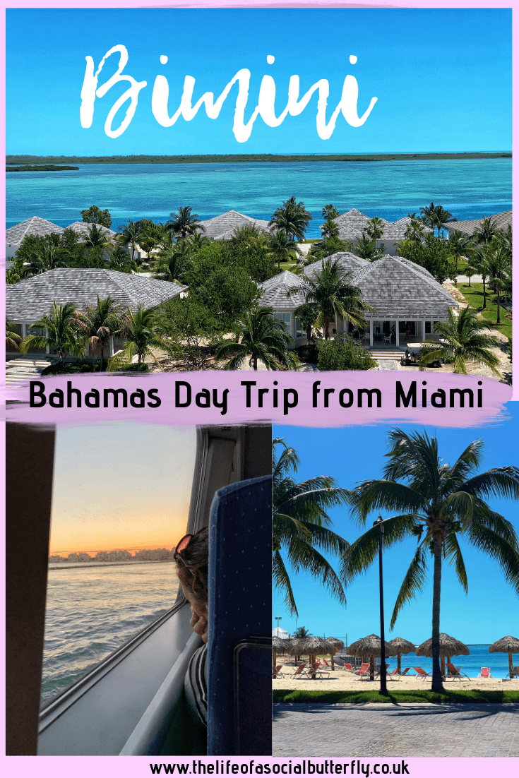 Fancy a day trip from Miami? Explore paradise in Bimini, Bahamas by enjoying a one day cruise to the Bahamas from Miami. Enjoy Bimini's white sand beaches, mysterious history, whilst soaking up the sun at Hilton World Resorts Bimini. #bimini #bahamas #onedaycruisetobahamasfrommiami #miamidaytrip #ferrytobahamas #biminidaytrip #caribbean