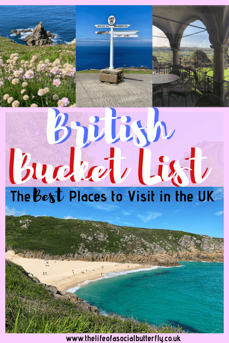 Top bucket list places in the UK to visit, including English heritage cities, pretty places to visit in the UK and unmissable iconic British music cities. Proving there's more to Britain than London, discover York, Cornwall, The Cotswolds and more! #britishbucketlist #england  #britain #uk #unitedkingdom #britainthingstodo