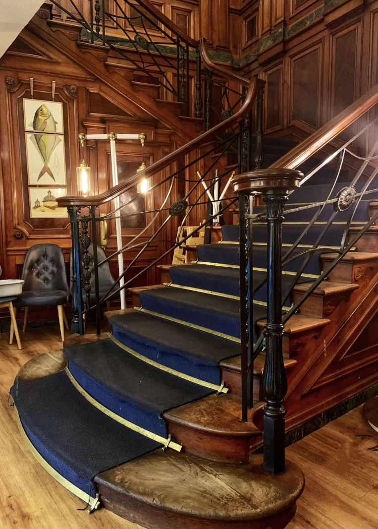 Staircase-in-Carluccios-York-St-Helens-Square-former-Terrys-factory
