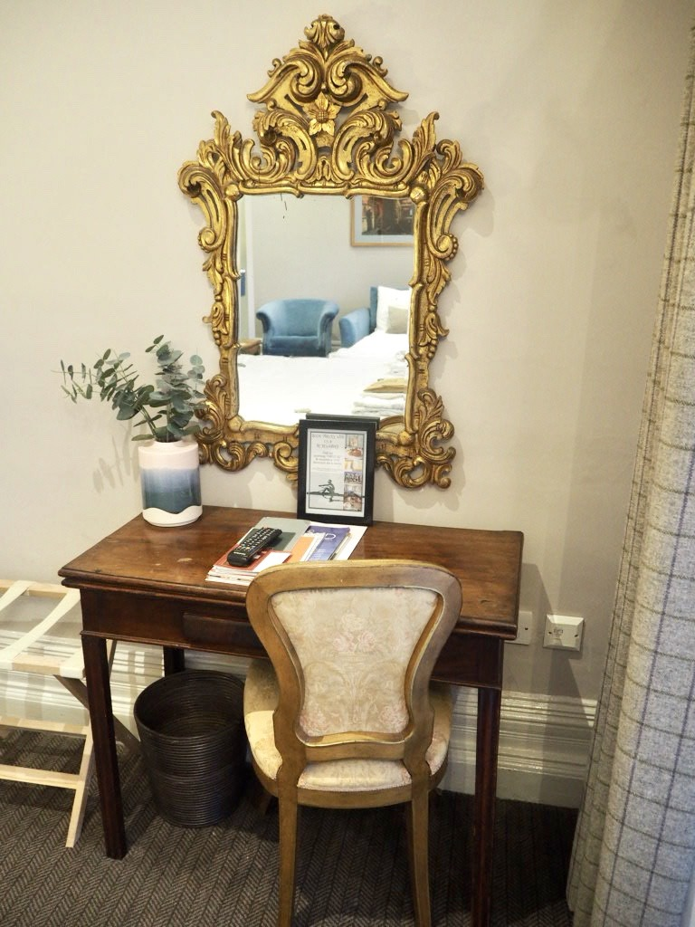 Gold Gilded Mirror River View Room The Embankment Hotel Bedford England