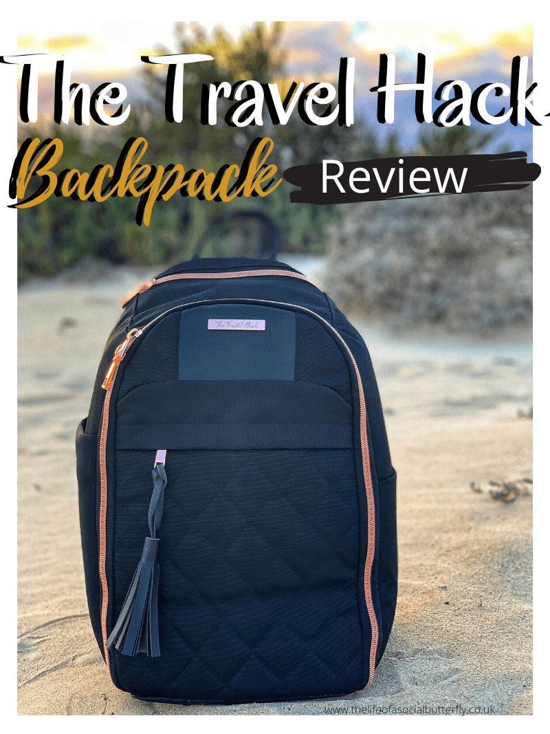 The Travel Hack Backpack Review - Best Carry-On Bag for a Woman with Style - Looking for cute carry on luggage that you can use as an underseat carry on for your next flight? It's so hard to find a small carry on bag that looks stylish and can fit all your essential items for airplane carry on, without having to pay extra luggage fees! The Travel Hack Backpack is the perfect carry on bag as it fits under your seat on a flight. Your new personal carry on bag, click through to read about the features! #travelbagcarryon