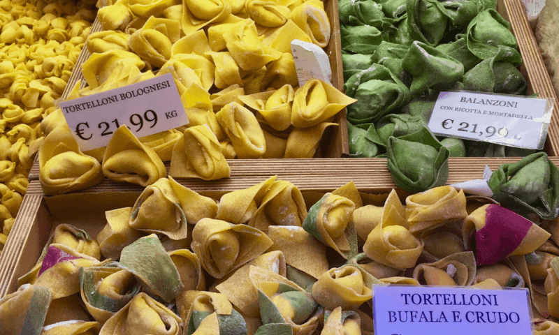 Tortelloni in Bologna food tour - Italy travel bucket list