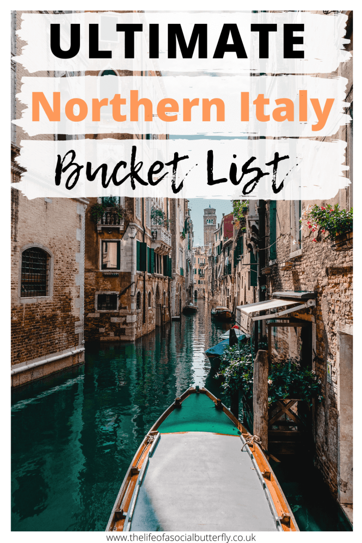 Explore Northern Italy's most beautiful places to add to your Italy bucket list! This post is packed full of unmissable Northern Italy bucket list places, including hidden gems in Italy's northern regions. If you are not sure where to go in Italy - check out this list of 25 must-see places in Italy that you need to add to your Italy itinerary! #NorthernItalyitinerary #wheretogoinnorthernitaly