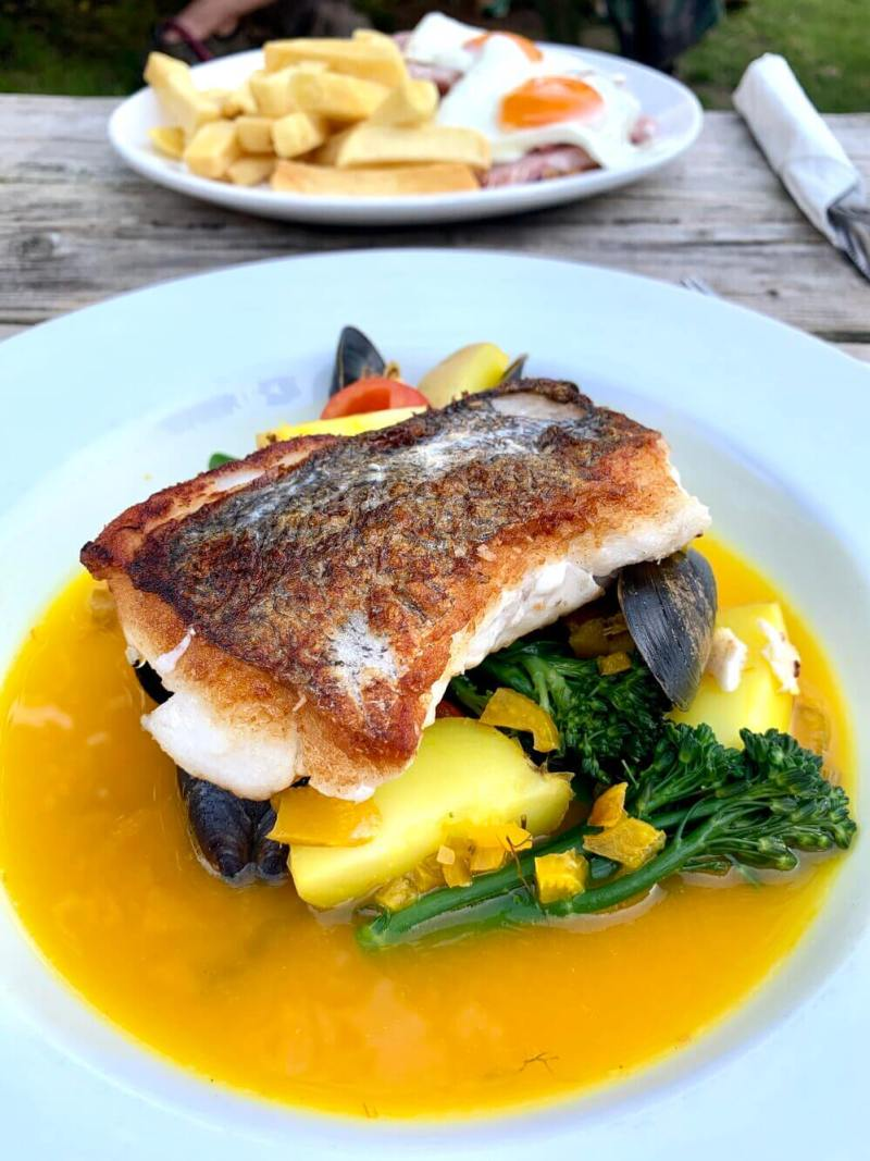 Food at Logan Rock Inn Treen Cornwall UK
