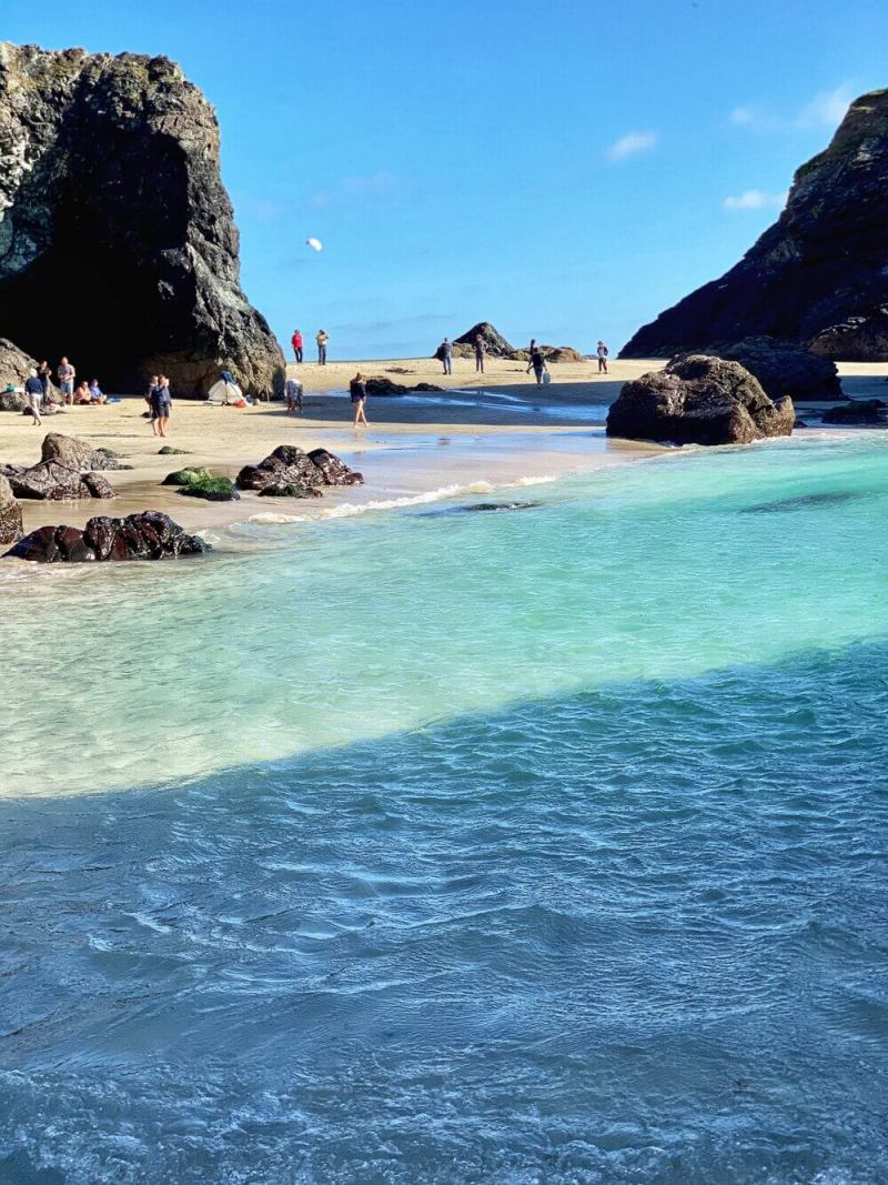 Kynance Cove Beach Cornwall in September