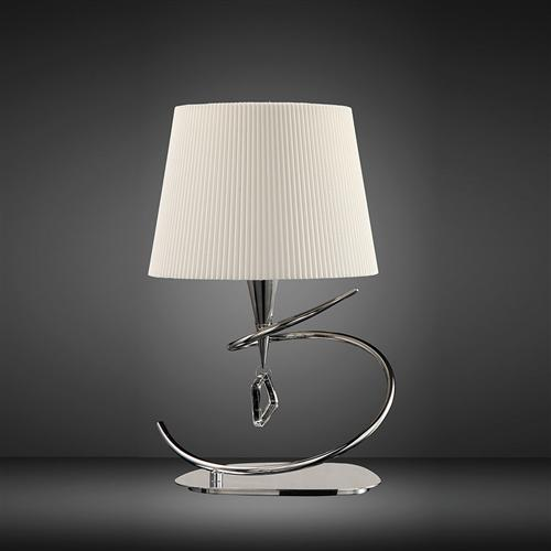 Mara Chrome Finished Contemporary Table Lamp The Lighting Superstore