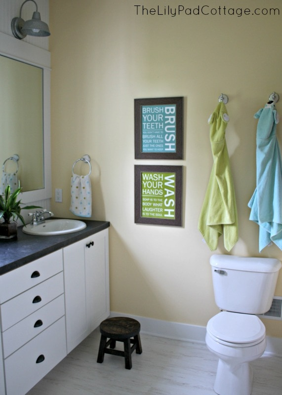 Old House Tour - The Lilypad Cottage on Contemporary:kkgewzoz5M4= Small Bathroom Ideas  id=63606