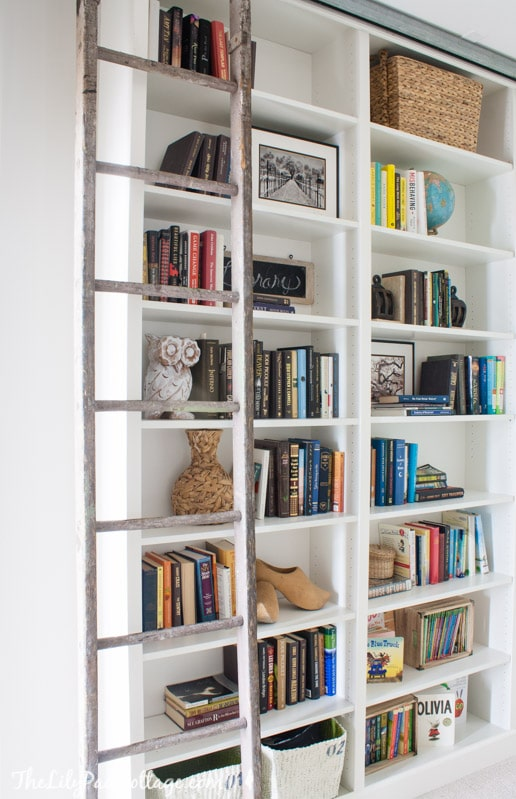 Floor To Ceiling Bookshelves With Ladder Home Plan