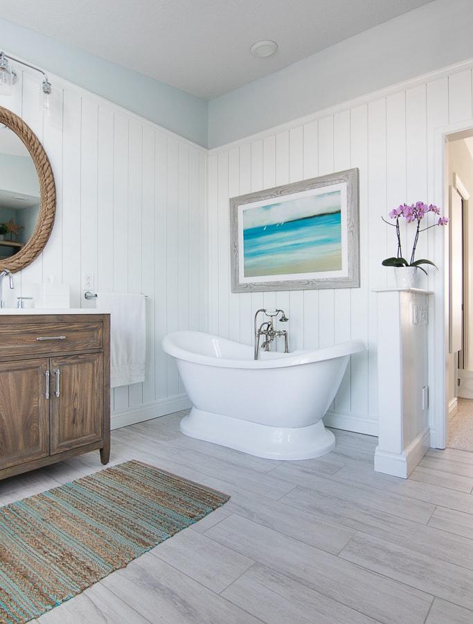 coastal master bathroom makeover the