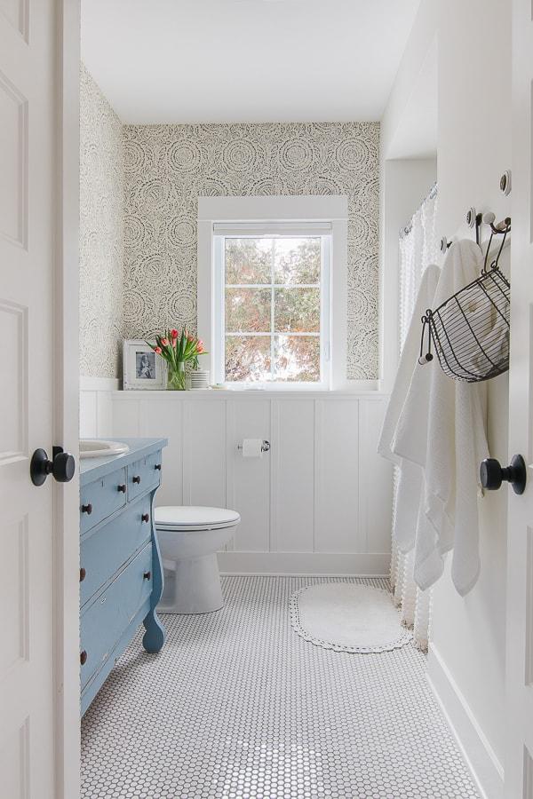 Blog - The Lilypad Cottage on Floral Tile Bathroom Ideas  id=62934