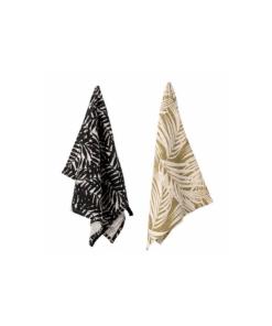 leaf pattern tea towel