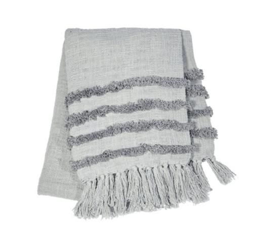 Grey blanket throw
