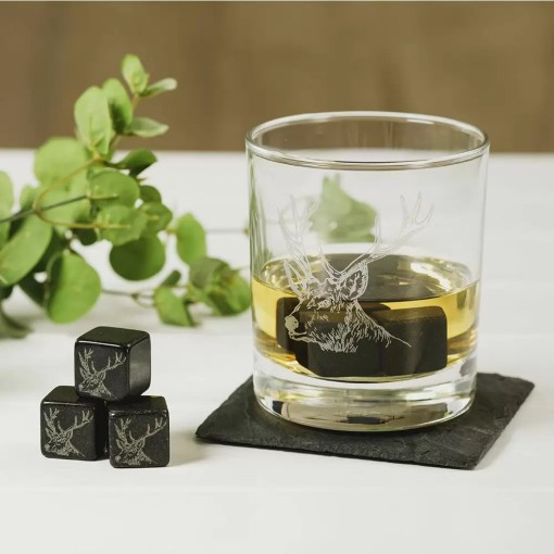 Stag whisky stones